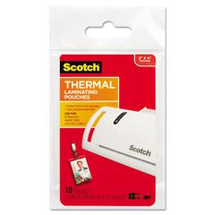 ID Badge Size Thermal Laminating Pouches, 5 mil, 4 1/4 x 2 1/5, 10/Pack