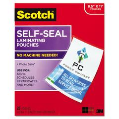 Self-Sealing Laminating Pouches, 9.5 mil, 9 3/10 x 11 4/5, 25/Pack