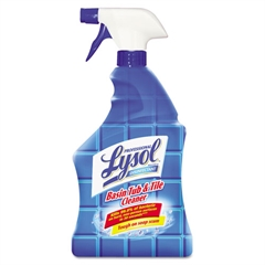 Professional LYSOL Brand Basin/Tub/Tile Cleaner, 32oz Spray Bottles, 12/Carton