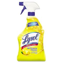 LYSOL Brand II Ready-to-Use All-Purpose Cleaner, Lemon Breeze, 32oz Spray Bottle, 12/Carton