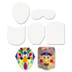 "Creativity Street Peel & Stick Faces Decoration Boards, 5"", 12 Pieces"