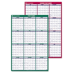 AT-A-GLANCE Vertical Erasable Wall Planner, 24 x 36, Front - 2017, Reverse - 2016-2017
