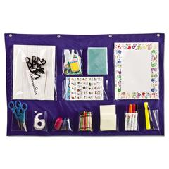 Carson-Dellosa Publishing Writing Center Pocket Chart, 12 Pockets, Blue, 18 x 33