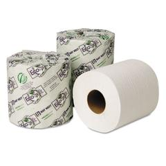 EcoSoft Universal Bathroom Tissue, 1-Ply, 1,000 Sheets/Roll, 48 Rolls/Carton