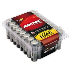 Rayovac Ultra Pro Alkaline Batteries, AA, 48/Pack