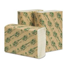 Wausau Paper EcoSoft Multifold Towels, White, 250 Towels/Pack, 16 Packs/Carton