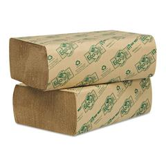 Wausau Paper EcoSoft Multifold Towels, Natural, 250 Towels/Pack, 16 Packs/Carton