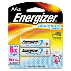 Energizer Advanced Lithium Batteries, AA, 2/Pack
