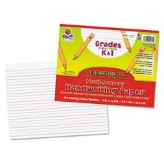 Pacon Multi-Sensory Raised Ruled Paper, 8-1/2 x 11, White, 100 Sheets/Pad