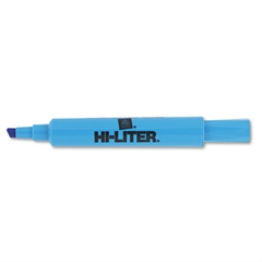HI-LITER Desk-Style Highlighter, Chisel Tip, Fluorescent Blue Ink, Dozen