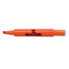 HI-LITER Desk Style Highlighter, Chisel Tip, Fluorescent Orange Ink, Dozen