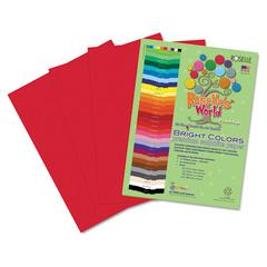 Premium Sulphite Construction Paper, 76 lbs., 12 x 18, Festive Red, 50/Pack
