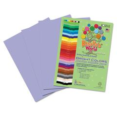 Roselle Premium Sulphite Construction Paper, 76 lbs., 12 x 18, Lilac, 50/Pack