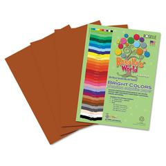 Roselle Premium Sulphite Construction Paper, 76 lbs., 12 x 18, Brown, 50/Pack