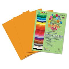 Roselle Premium Sulphite Construction Paper, 76 lbs., 12 x 18, Yellow/Orange, 50/Pack