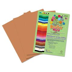 Premium Sulphite Construction Paper, 76 lbs., 12 x 18, Light Brown, 50/Pack