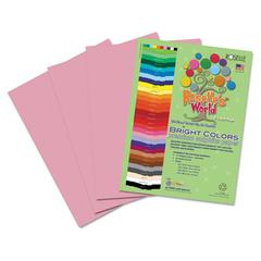 Roselle Premium Sulphite Construction Paper, 76 lbs., 9 x 12, Pink, 50/Pack