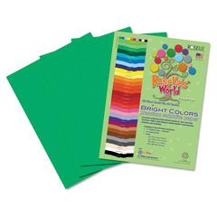 Roselle Premium Sulphite Construction Paper, 76 lbs., 12 x 18, Holiday Green, 50/Pack
