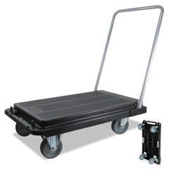 Heavy-Duty Platform Cart, 300lb Capacity, 21w x 32 1/2d x 36 3/4h, Black