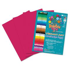 Heavyweight Construction Paper, 58 lbs., 9 x 12, Scarlet, 50 Sheets/Pack
