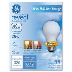 GE Halogen A-Line Bulb, A19, 325 lm, 2/Pack