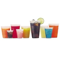 Fabri-Kal RK Crisscross Cold Drink Cups, 3 oz, Clear