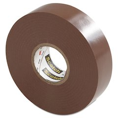 """Scotch 35 Vinyl Electrical Color Coding Tape, 3/4"""" x 66ft, Brown"""