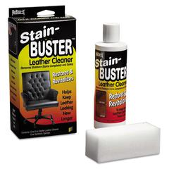 "Master Caster ReStor-It Stain-Buster Leather Cleaner, 8 oz Bottle, 2"" x 6 3/4"" Pad"