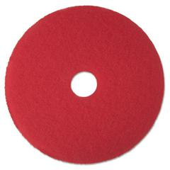 "Low-Speed Buffer Floor Pads 5100, 12"" Diameter, Red, 5/Carton"