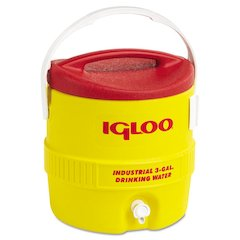 Industrial Water Cooler, 3 gal, Yellow Red