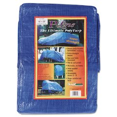 Multiple Use Tarpaulin, Polyethylene, 16 ft x 20 ft, Blue