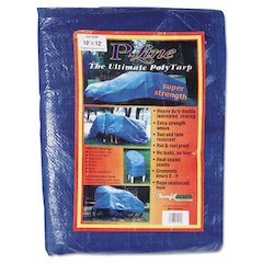 Multiple Use Tarpaulin, Polyethylene, 10 ft x 12 ft, Blue