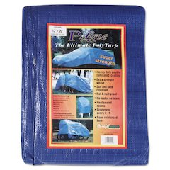 Multiple Use Tarpaulin, Polyethylene, 12 ft x 20 ft, Blue