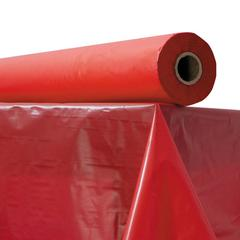 "Plastic Table Cover, 40"" x 300 ft Roll, Red"