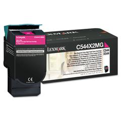 Lexmark C544X2MG Extra High-Yield Toner, 4,000 Page Yield, Magenta