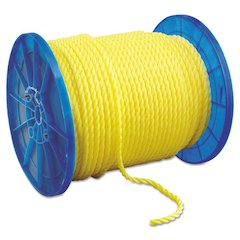"Monofilament Twisted Yellow Poly Rop, 1/2"" x 600ft"