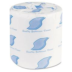 GEN Bathroom Tissue, 1-Ply, 4 1/2 x 3, White, 1000 Sheets/Roll, 96 Rolls/Carton