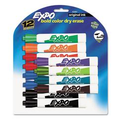 EXPO Dry Erase Markers, Chisel Tip, 12/Set