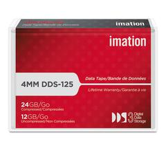 "imation 1/8"" DDS-3 Cartridge, 125m, 12GB Native/24GB Compressed Capacity"