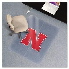 ES Robbins Collegiate Chair Mat for Low Pile Carpet, 36 x 48, Nebraska Cornhuskers