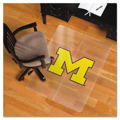 ES Robbins Collegiate Chair Mat for Hard Floors, 36 x 48, Michigan Wolverines