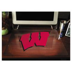 ES Robbins Collegiate Desk Pad, U of Wisconsin Badgers, Red/Black, Plastic, 19 x 24