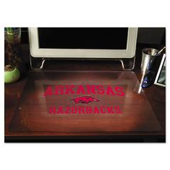 ES Robbins Collegiate Desk Pad, U of Arkansas Razorbacks, Red/Black/White, Plastic, 19 x 24