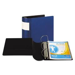 "DXL Heavy-Duty Locking D-Ring Binder With Label Holder, 5"" Cap, Dark Blue"