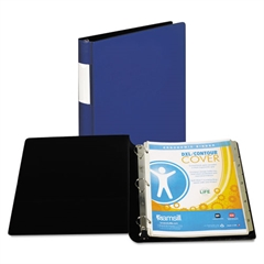 "DXL Heavy-Duty Locking D-Ring Binder With Label Holder, 1"" Cap, Dark Blue"