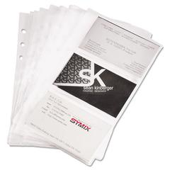 Samsill Refill Sheets for 4 1/4 x 7 1/4 Business Card Binders, 60 Card Capacity, 10/Pack