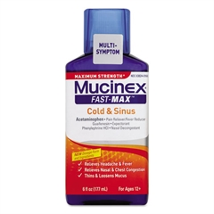 Maximum Strength Fast Max Cold & Sinus, 6oz Bottle,