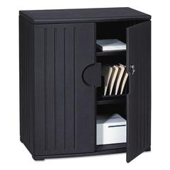 OfficeWorks Resin Storage Cabinet, 36w x 22d x 46h, Black