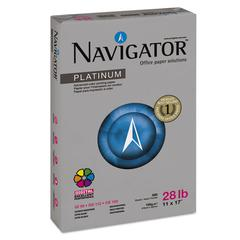 Navigator Platinum Paper, 99 Brightness, 28lb, 11 x 17, White, 2500/Carton