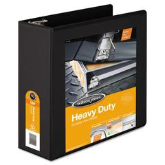 "Wilson Jones Heavy-Duty D-Ring View Binder w/Extra-Durable Hinge, 4"" Cap, Black"